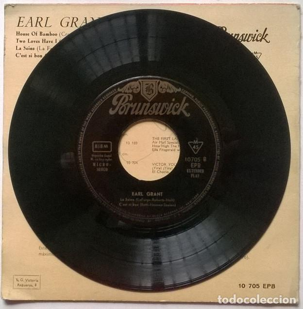 Discos de vinilo: Earl Grant. House of Bamboo/ Two loves have I/ La Seine/ Cest si bon. Brunswick, Spain 1960 ep - Foto 3 - 243669595