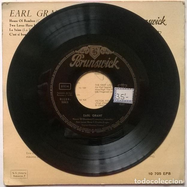 Discos de vinilo: Earl Grant. House of Bamboo/ Two loves have I/ La Seine/ Cest si bon. Brunswick, Spain 1960 ep - Foto 4 - 243669595