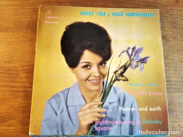 ROCKY COLE - HUGO WINTERHALTER **** RARO EP ESPAÑOL 1962 (Música - Discos de Vinilo - EPs - Pop - Rock Internacional de los 50 y 60)