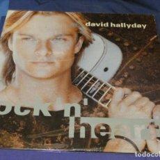 Discos de vinilo: EXPRU LP DAVID HALLYDAY ROCK N HEART 1990 MUY BUENO DE VINILO, TIENE ENCARTE, ALGUN NERVIO EN TAPA. Lote 243680340