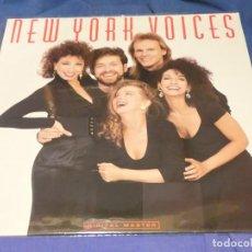 Discos de vinilo: EXPRU LP THE NEW YORK VOICES 1989 HOMONIMO MUY BUEN ESTADO GENERAL. Lote 243680870