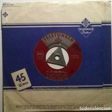 Discos de vinilo: BUBI SCHOLZ. SIE HAR NUR BLUEJEANS/ DER STARKE JOE AUS MEXIKO. TELEFUNKEN, GERMANY 1959 SINGLE. Lote 243685235