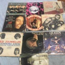 Discos de vinilo: LOTE 1 SUPER SINGLES . QUEEN/BOB MARLEY/LED ZEPPELIN / BOB DYLAN / PAUL MCCARTNEY ETC. Lote 243686515