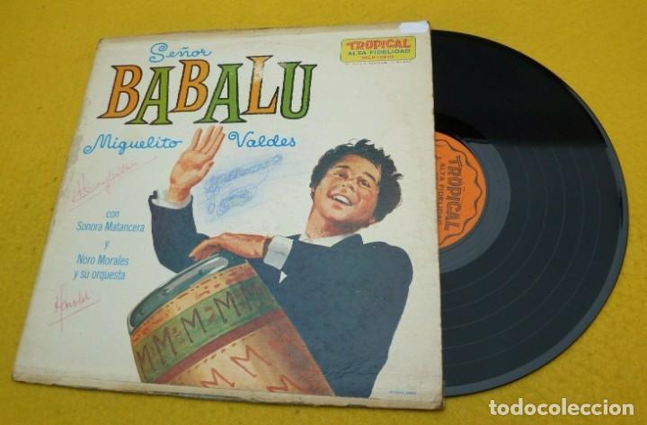 LP MIGUELITO VALDES / SONORA MATANCERA / NORO MORALES - SEÑOR BABALU - US -TROPICAL TRLP-5010 (G/VG) (Música - Discos - LP Vinilo - Grupos y Solistas de latinoamérica)
