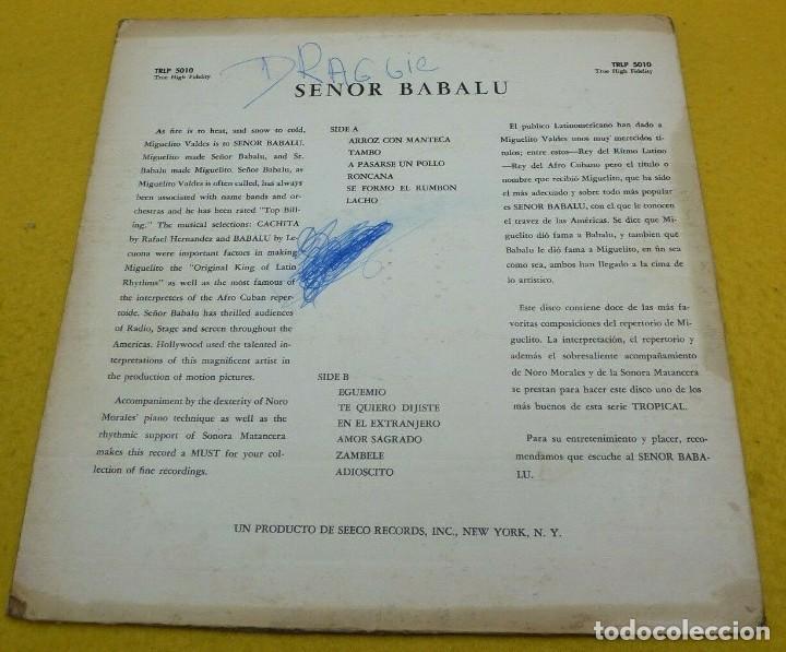 Discos de vinilo: LP MIGUELITO VALDES / Sonora Matancera / Noro Morales - Señor Babalu - US -Tropical TRLP-5010 (G/VG) - Foto 2 - 243689350