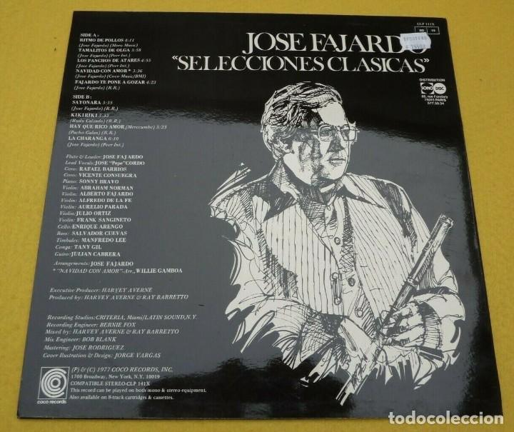 Discos de vinilo: LP JOSE FAJARDO - Selecciones clasicas - COCO CLP 141X - FRANCE press (EX+/M-)ç - Foto 2 - 243689740