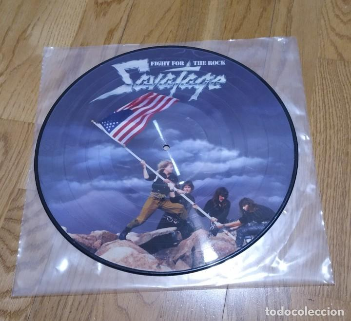 VINILO SAVATAGE - FIGHT FOR THE ROCK. PICTURE 2004. (Música - Discos - LP Vinilo - Heavy - Metal)