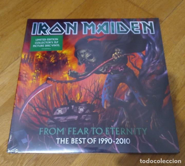 VINILO IRON MAIDEN – FROM FEAR TO ETERNITY: THE BEST OF 1990-2010. TRIPLE VINILO PICTURE 2011 (Música - Discos - LP Vinilo - Heavy - Metal)