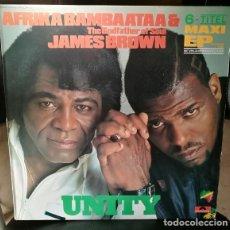 Discos de vinilo: DISCO 45 VINILO MAXI 12P AFRIKA BAMBAATAA & JAMES BROWN - UNITY - POLYDOR 1984 ESPAÑA [ VG - VG+ ]. Lote 243701505
