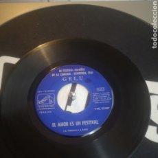 Discos de vinilo: SINGLE TERCER FESTIVAL ESPAÑOL DE LA CANCIÓN BENIDORM, 1961. Lote 243775780