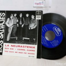 Discos de vinilo: LOS SALVAJES --LA NEURASTENIA--EMI --1966- BCN--. Lote 243781905