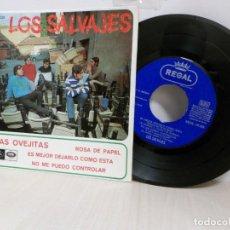 Discos de vinilo: LOS SALVAJES -LAS OVEJITAS --EP DE 4 CANCIONES - EMI--1967--BCN--. Lote 243782800