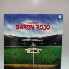 Discos de vinilo: BARON ROJO SIEMPRE ESTAIS ALLÍ. Lote 243783925