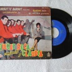 Discos de vinilo: QUIQUE ROCA, SU CONJUNTO Y CLAUDIA --- BRIGITTE BARDOT +3 HISPAVOX. Lote 243794265