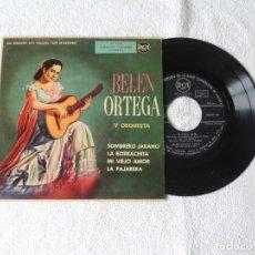 Discos de vinilo: BELEN ORTEGA Y SU ORQUESTA -- SOMBRERO JARANO +3 EP. Lote 243795550
