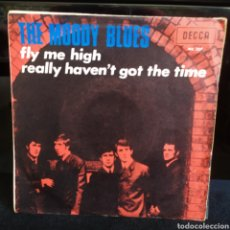 Discos de vinilo: THE MOODY BLUES - FLY ME HIGH 1967. Lote 243795585
