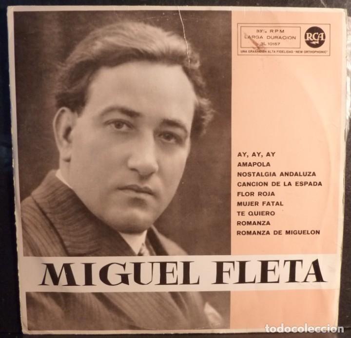MIGUEL FLETA // AY AY AY+OTRAS // 1961 // (VG VG). LP (Música - Discos - LP Vinilo - Solistas Españoles de los 50 y 60)