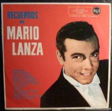 Discos de vinilo: MARIO LANZA // RECUERDOS DE MARIO LANZA // 1961 // (VG VG). LP. Lote 243796365
