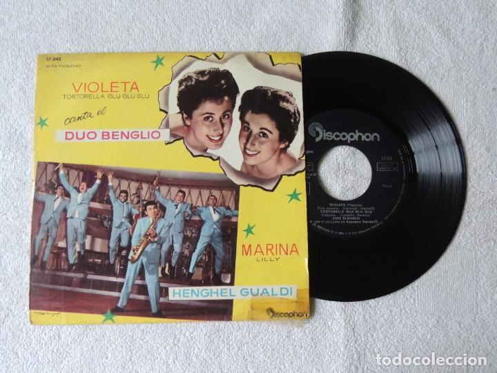 DUO BLENGIO -- VIOLETA TORTORELLA -- MARINA LILLY (Música - Discos de Vinilo - EPs - Canción Francesa e Italiana)