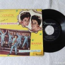 Discos de vinilo: DUO BLENGIO -- VIOLETA TORTORELLA -- MARINA LILLY. Lote 243797030
