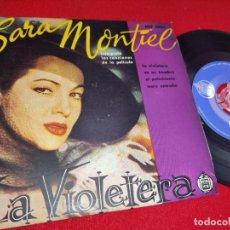 Discos de vinilo: SARITA SARA MONTIEL LA VIOLETERA/ES MI HOMBRE +2 EP 7'' HISPAVOX ARGENTINA LA VIOLETERA OST BSO. Lote 243798250