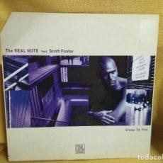 Discos de vinilo: THE REAL NOTE - CLOSE TO YO. Lote 243802890