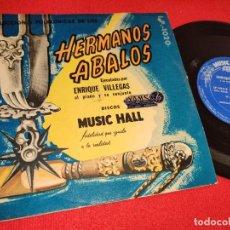 Discos de vinilo: ENRIQUE VILLEGAS JUNTITO AL FOGON/LA INDECISA +2 EP 7'' MUSIC HALL ARGENTINA HERMANOS ABALOS. Lote 243803210