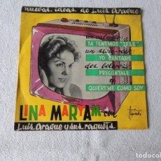 Discos de vinilo: LINA MARYAM - YA TENEMOS TELE + 3 VARIETY 1960. Lote 243805585