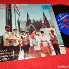 Discos de vinilo: AGRUPACION ARUCAS (FAMILIA GONZALEZ) ARUCAS/HERREÑITA SOY +2 EP 1966 CANARIAS FOLK + FIRMA. Lote 243809090