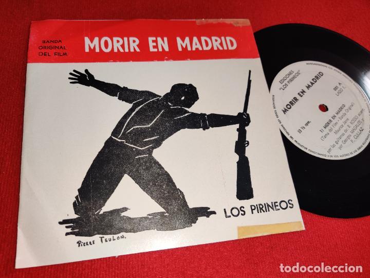 MAURICE JARRE MORIR EN MADRID BSO OST +2 EP 1963 LOS PIRINEOS ARGENTINA (Música - Discos de Vinilo - EPs - Bandas Sonoras y Actores)