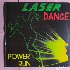 """Discos de vinilo: 12"""" LASER DANCE – POWER RUN - MAX MUSIC MAX 229 - SPAIN PRESS - MAXI (EX+/EX+). Lote 243817840"""