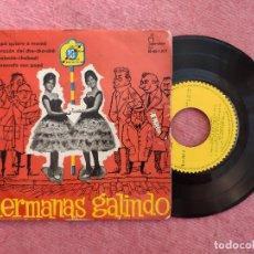 Discos de vinilo: EP HERMANAS GALINDO - PAPA QUIERE A MAMA / CORAZON DEL CHA CHA CHA +2 - IB-45-1012 - (VG/EX-). Lote 243820845