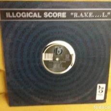 Discos de vinilo: ILLOGICAL SCORE - RAVE. Lote 243823880