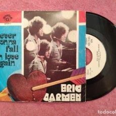 Discos de vinilo: SINGLE ERIC CARMEN - NEVER GONNA FALL IN LOVE AGAIN - 8E 006 97680 G - PORTUGAL PRESS (EX-/EX-). Lote 243825145