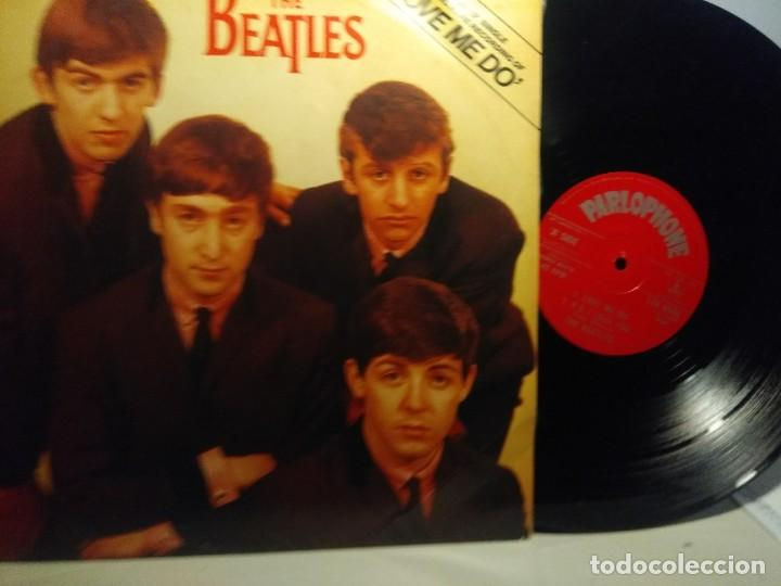 Discos de vinilo: THE BEATLES : LOVE ME DO ( EP 3 CANCIONES, TAMAÑO LP ) - Foto 2 - 243826090