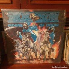 Discos de vinilo: DEATHROW / RIDERS OF DOOM / EDICION AMERICANA / COMBAT 1986. Lote 243826670