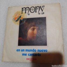 Discos de vinilo: MONY - ES UN MUNDO NUEVO. Lote 243830175