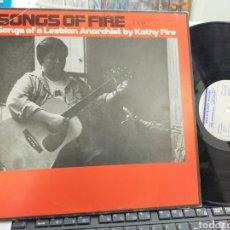 Discos de vinilo: SONGS OF FIRE LP SONGS OF A LESBIAN ANARHIST BY KATHY FIRE ESPAÑA 1984. Lote 243843015