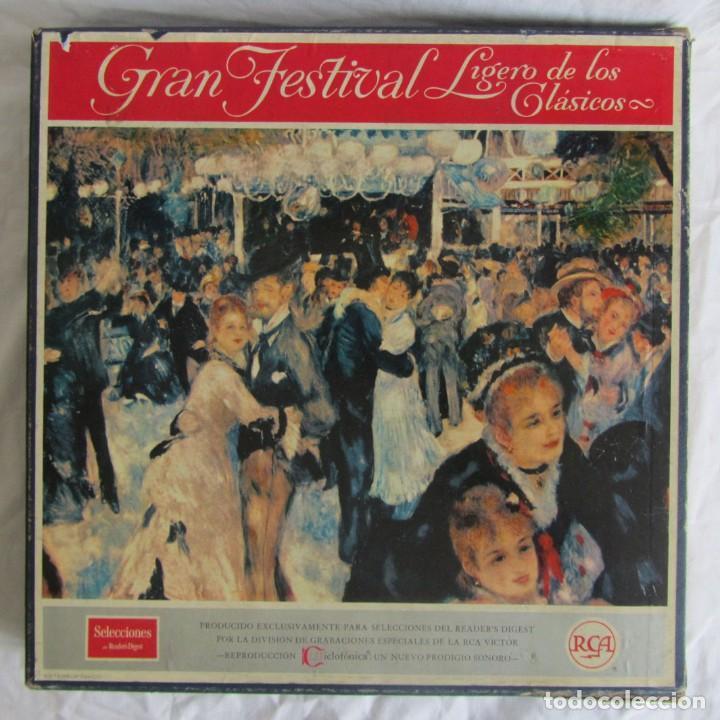 CAJA CON 12 LPS VINILO GRAN FESTIVAL LIGERO DE LOS CLÁSICOS READER'S DIGEST (Música - Discos - LP Vinilo - Clásica, Ópera, Zarzuela y Marchas)