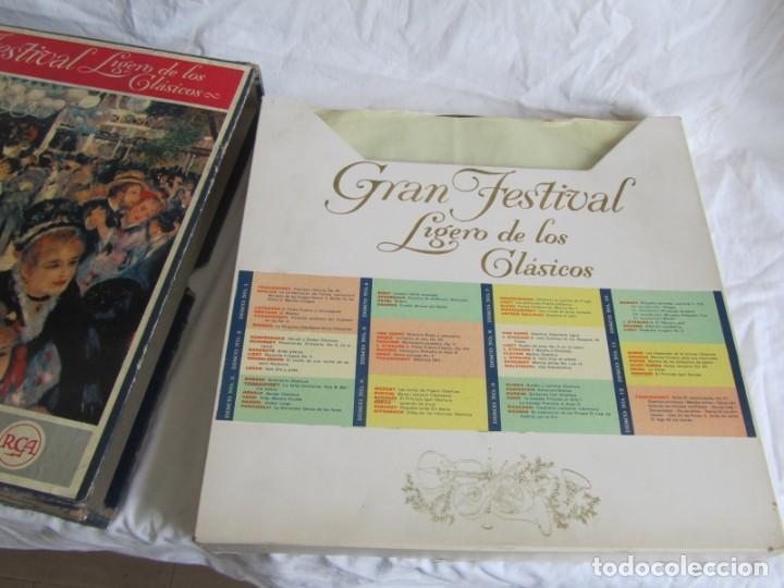 Discos de vinilo: Caja con 12 LPs vinilo Gran festival ligero de los clásicos Readers Digest - Foto 3 - 243850500