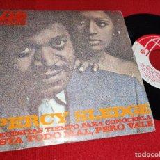 Discos de vinilo: PERCY SLEDGE NECESITAS TIEMPO PARA CONOCERLA/ESTA TODO MAL PERO VALE 7'' SINGLE 1968 ATLANTIC ESPAÑA. Lote 243854840