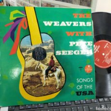 Discos de vinilo: THE WEAVERS WITH PETE SEEGER LP SINGS OF THE USA. Lote 243856740