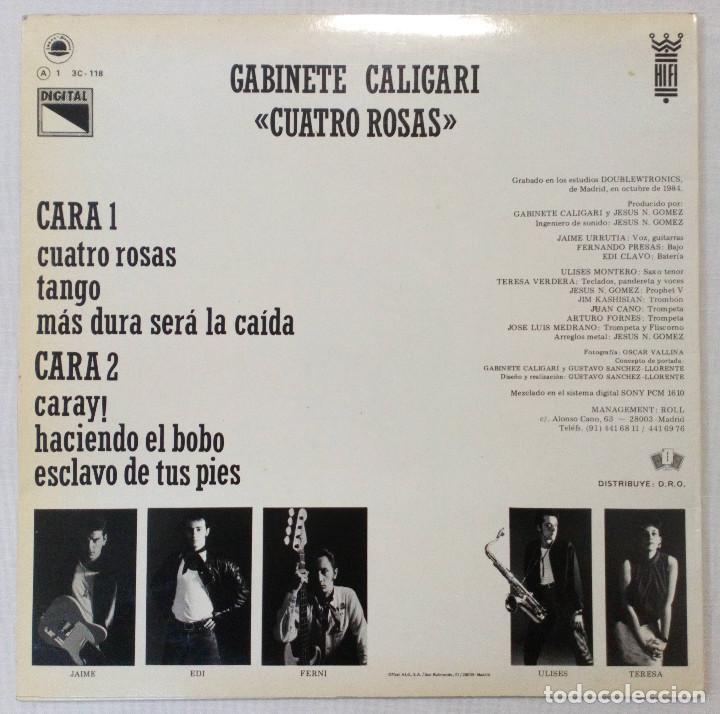 Discos de vinilo: VINILO LP GABINETE CALIGARI. CUATRO ROSAS. 1984 - Foto 2 - 243868525