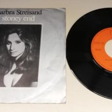 "Discos de vinilo: 0221-BARBRA STREISAND - VIN SINGLE 7"" POR G DIS VG+. Lote 243870930"