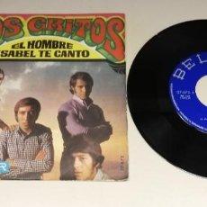 """Discos de vinilo: 0221-LOS GRITOS EL HOMBRE - VIN SINGLE 7"""" POR G+ DIS NM. Lote 243873245"""