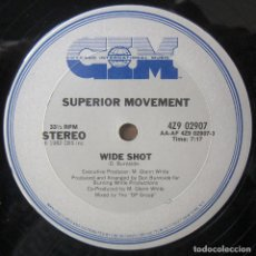Discos de vinilo: SUPERIOR MOVEMENT - WIDE SHOT / SWEET DREAMS - 1982 - EDICIÓN AMERICANA, DISCO, SOUL. Lote 243876710