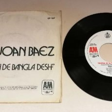 "Discos de vinilo: 0221- JOAN BAEZ CANCION D BANGLA DESH- VIN SINGLE 7"" POR F DIS VG+ PROMO. Lote 243877280"