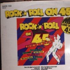 Discos de vinilo: ROCK'N'ROLL ON 45 TRIBUTE TO ELVIS. Lote 243881150