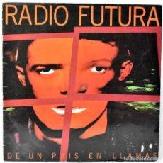 Discos de vinilo: RADIO FUTURA - DE UN PAÍS EN LLAMAS. LP. Lote 243890225
