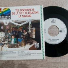Discos de vinilo: RADIO BARCELONA F.M. LOS 40 PRINCIPALES .TUS DISCJOKEYS TE FELICITAN LA NAVIDAD Y VILLANCICOS. Lote 243900075